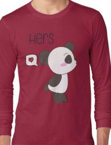 """His & Hers"" Panda (Couple Shirts) Boy Version Long Sleeve T-Shirt"