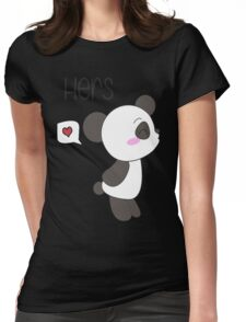 """His & Hers"" Panda (Couple Shirts) Boy Version Womens Fitted T-Shirt"