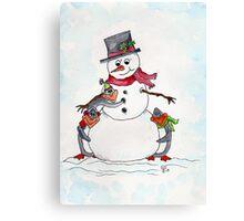 Snow friends  Canvas Print