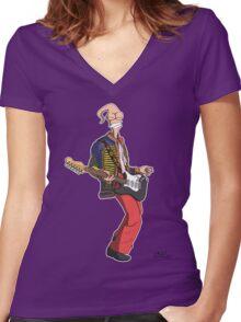 Earthworm Jimi Hendrix Women's Fitted V-Neck T-Shirt