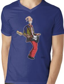 Earthworm Jimi Hendrix Mens V-Neck T-Shirt