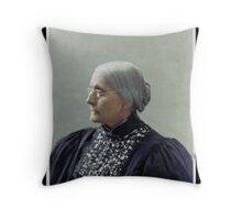 Susan B. Anthony, ca. 1900 Throw Pillow