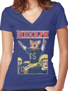 Rudolph Women's Fitted V-Neck T-Shirt