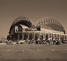 Miller Park - Milwaukee Brewers by Frank Romeo