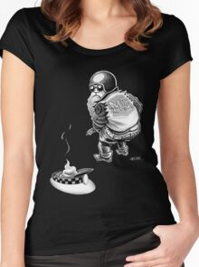 santa leaves a present Women's Fitted Scoop T-Shirt