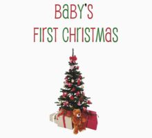 Baby's First Christmas-t-shirt by hummingbirds