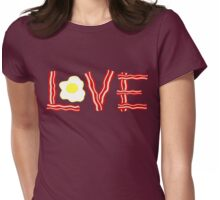 Love Bacon and Eggs Womens Fitted T-Shirt