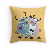 Cool Bull With Girlfriend!!! Throw Pillow