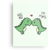 Dino Love! (Hug Me!) [Cases] Metal Print