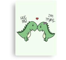 Dino Love! (Hug Me!) [Cases] Canvas Print