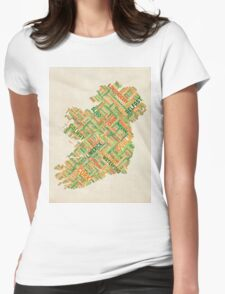 Ireland Eire City Text map Womens Fitted T-Shirt