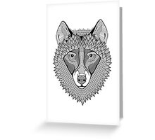 Ornate Wolf Greeting Card