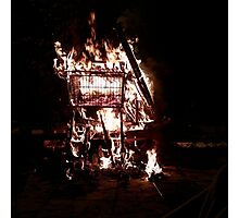 Trolley Fire Photographic Print