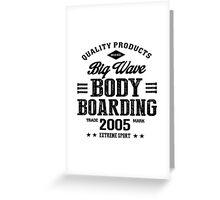 Bodyboarding Extreme Sport Black Art Greeting Card