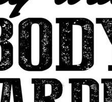 Bodyboarding Extreme Sport Black Art Sticker