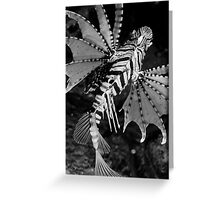 Dancing Lionfish Greeting Card