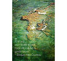 Ocean Typography Photographic Print
