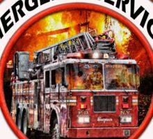 Fire fighter vintage logo  gifts Sticker