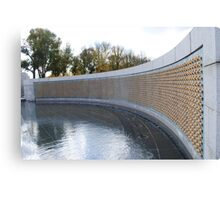 Fountain and Wall at the World War 2 Memorial Canvas Print