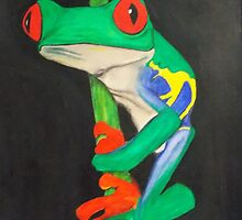 Red Eyed Tree Frog by Gina Ikmanis