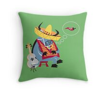 Cool Bull At Work!!! Throw Pillow