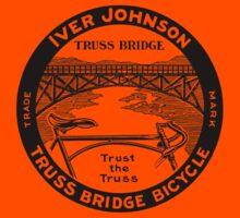 Vintage retro Iver Johnson Truss Bridge bicycle ad Kids Tee