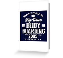 Bodyboarding Extreme Sport White Art Greeting Card