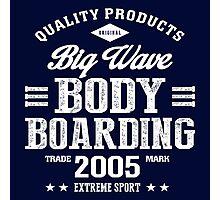 Bodyboarding Extreme Sport White Art Photographic Print