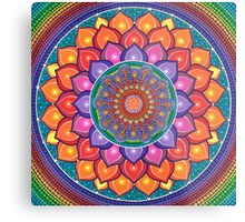 Lotus Rainbow Mandala Metal Print