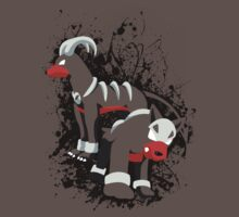 Houndour and Houndoom Splatter by adhpv