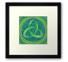 Green Ouroboros Celtic Snake Framed Print