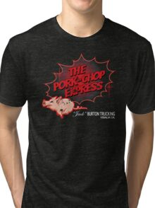 Pork Chop Express - Distressed Red Fade Variant Tri-blend T-Shirt