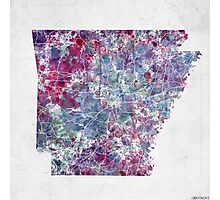 arkansas map cold colors Photographic Print