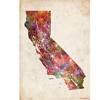california map warm colors Photographic Print