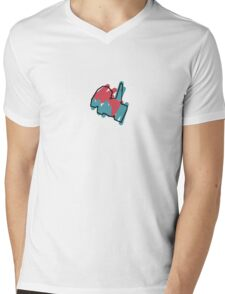 Porygon Mens V-Neck T-Shirt