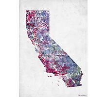 california map cold colors Photographic Print
