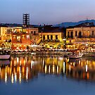 The old Venetian port of Rethymno by Hercules Milas