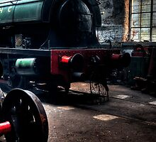 Shed & Locomotive by Andrew Pounder