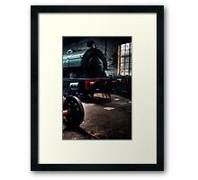 Shed & Locomotive Framed Print
