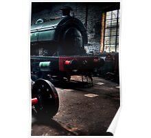 Shed & Locomotive Poster