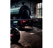 Shed & Locomotive Photographic Print