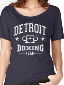 Detroit Boxing Team (Vintage Distressed Design) Women's Relaxed Fit T-Shirt