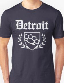 Detroit Knuckle Crest (Vintage Distressed Design) T-Shirt