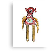 Alien Rag Doll Canvas Print