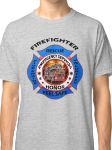 Fire fighter vintage logo desing gifts Classic T-Shirt