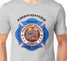 Fire fighter vintage logo desing gifts Unisex T-Shirt