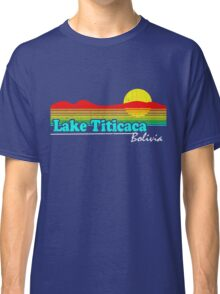 Funny Lake Titicaca, Bolivia (Vintage Distressed) Classic T-Shirt