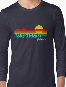 Funny Lake Titicaca, Bolivia (Vintage Distressed) Long Sleeve T-Shirt