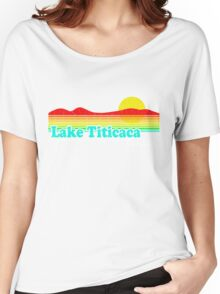 Funny Lake Titicaca, Bolivia (Vintage Distressed) Women's Relaxed Fit T-Shirt