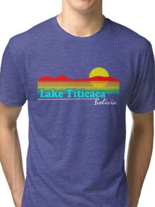 Funny Lake Titicaca, Bolivia (Vintage Distressed) Tri-blend T-Shirt